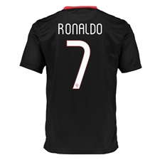Nike Portugal 'RONALDO 7' Away 2015 Youth Soccer Jersey (Black/Challenge Red)