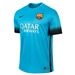 Nike FC Barcelona Third '15-'16 Youth Soccer Jersey (Light Current Blue/Black)