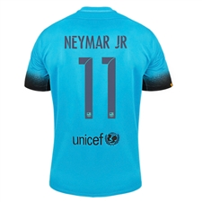 Nike FC Barcelona 'NEYMAR JR 11' Third '15-'16 Youth Soccer Jersey (Light Current Blue/Black)