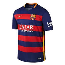 Nike FC Barcelona Home '15-'16 Youth Soccer Jersey (Loyal Blue/Storm Red/University Gold)