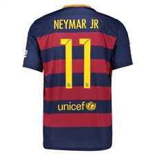 Nike FC Barcelona 'NEYMAR 11' Home '15-'16 Youth Soccer Jersey (Loyal Blue/Storm Red/University Gold)