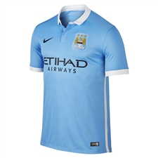 Nike Manchester City Youth Home '15-'16 Soccer Stadium Jersey (Field Blue/White/Obsidian)