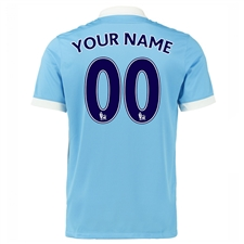 Nike Manchester City Youth 'CUSTOM' Home '15-'16 Soccer Stadium Jersey (Field Blue/White/Obsidian)