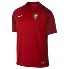 Nike Youth Portugal 2016 Stadium Home Soccer Jersey (Gym Red/Deep Garnet/White)