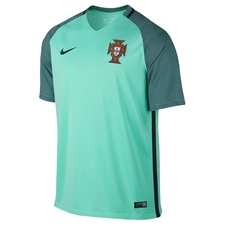 Nike Youth Portugal 2016 Stadium Away Soccer Jersey (Green/Glow/Nightshade)