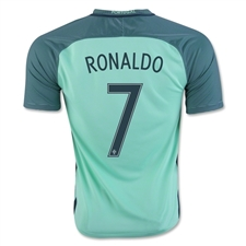 Nike Youth Portugal 2016 Stadium Away 'RONALDO 7' Soccer Jersey (Green/Glow/Nightshade)