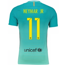 Nike FC Barcelona Youth 'NEYMAR 11' '16-'17 Third Soccer Jersey (Green Glow/Energy/Black)