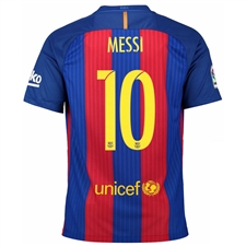 Nike FC Barcelona Home 'MESSI 10' '16-'17 Youth Soccer Jersey (Sport Royal/Gym Red/University Gold)