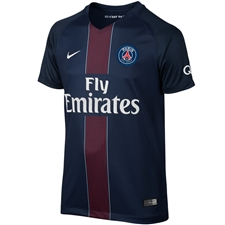 Nike Paris St. Germain Home '16-'17 Youth Soccer Jersey (Midnight Navy/Black/Challenge Red/White)