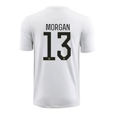 Nike Youth USA 2015 'MORGAN 13' Home Stadium Soccer Jersey (Football White/Black)
