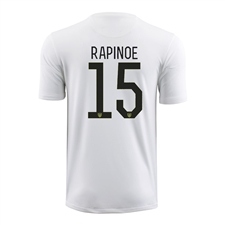 Nike Youth USA 2015 'RAPINOE 15' Home Stadium Soccer Jersey (Football White/Black)