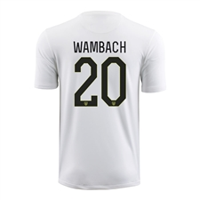 Nike Youth USA 2015 'WAMBACH 20' Home Stadium Soccer Jersey (Football White/Black)
