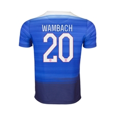 Nike Youth USA 2015 'WAMBACH 20' Away Stadium Soccer Jersey (Game Royal/Loyal Blue/White)