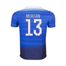 Nike Youth USA 2015 'MORGAN 13' Away 3 Star Soccer Jersey (Game Royal/Loyal Blue/White)