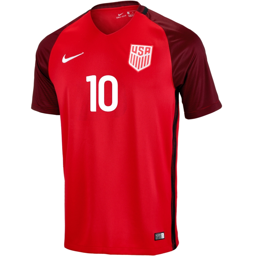 nwt authentic nike usa national team soccer jersey nwt- new with tags size - boys small brand - nike % polyester armpit to armpit- 14 inches length- 21 inches nike logo is sewn team emblem is sewn free u.s. shipping delivery confirmation provided paypal only.