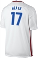 Nike USA 2016 OLYMPIC RIO 'HEATH 17' Youth Soccer Jersey (White/Royal/Red)