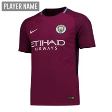 Nike Manchester City Youth Away '17-'18 Soccer Jersey (True Berry/White)