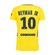 Nike Paris St. Germain Youth 'NEYMAR 10' Away '17-'18 Soccer Jersey (Tour Yellow/Midnight Navy)