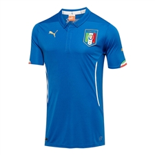 Puma Italy Home 2014 Youth Replica Soccer Jersey (Team Power Blue)