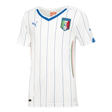 Puma Italy Away 2014 Youth Replica Soccer Jersey (White/Blue)