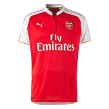 Puma Arsenal Home '15-'16 Youth Replica Soccer Jersey (High Risk Red/White)