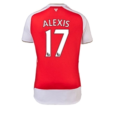 Puma Arsenal 'ALEXIS 17' Home '15-'16 Youth Replica Soccer Jersey (High Risk Red/White)