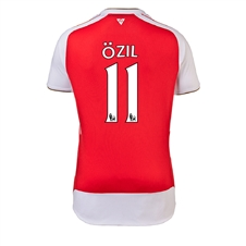 Puma Arsenal 'OZIL 11' Home '15-'16 Youth Replica Soccer Jersey (High Risk Red/White)