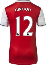 "Puma Youth Arsenal ""GIROUD 12"" Home '16-'17 Replica Soccer Jersey (High Risk Red/White)"