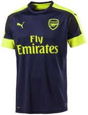 Puma Youth Arsenal Third '16-'17 Replica Soccer Jersey (Peacoat/Safety Yellow)
