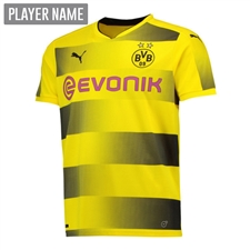 Puma Borussia Dortmund '17-'18 Youth Home Soccer Jersey (Cyber Yellow/Black)