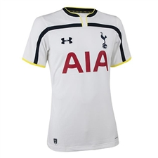 Under Armour Tottenham Home 2014-2015 Youth Replica Soccer Jersey (White)