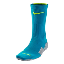 Nike MatchFit Socks (Light Blue Lacquer/Wolf Grey/Volt)