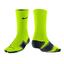 Nike Dri Fit Channel Cushioning Practice Sock (Volt)