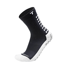 Trusox Mid-Calf Soccer Socks (Black/White)