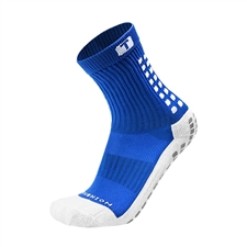 Trusox Mid-Calf Soccer Socks (Royal/White)
