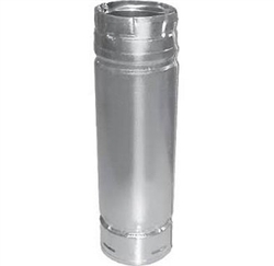 "DuraVent 3PVP-18A 3"" x 18"" Pellet Chimney Adjustable Stainless Steel Length Pipe"