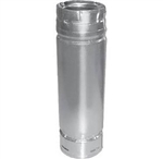 "DuraVent 3PVP-48A 3"" x 48"" Pellet Chimney Extension Adjustable Slip  Stainless Steel Length Pipe"