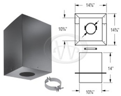 "DuraVent 3PVP-CS 3"" PelletVentPro Cathedral Ceiling Support Box"