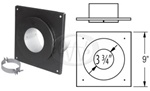 "DuraVent 3PVP-FS 3"" I.D. Black Ceiling Support Firestop Spacer (for 1"" clearance)"