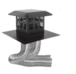 "DuraVent 46DVA-CL34P Co-Linear Kit w/Flex and Prairie Cap Style for Direct Vent Gas Inserts with 4"" exhaust"