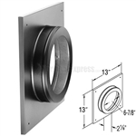 "DuraVent 46DVA-DC 4"" x 6-5/8"" Black Round Ceiling Support/Wall Thimble Cover"