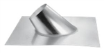 "DuraVent 46DVA-F12 Galvanized 4"" x 6-5/8"" Galvanized Steep Roof Flashing for Roof Pitch of 7/12 - 12/12"