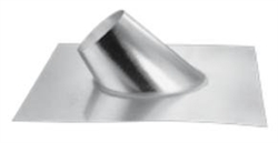 "DuraVent 46DVA-F12DS 4"" x 6-5/8"" Aluminum Adjustable Roof Flashing for Roof Pitch of 0/12 - 6/12 (for Metal or Tile Roofs)"