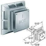 "DuraVent 46DVA-HCS 4"" x 6-5/8"" Stainless Steel Square Horizontal Termination Cap (Stainless Steel)"
