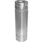 "DuraVent 3PVP-18A 4"" x 18"" Pellet Chimney Adjustable Stainless Steel Length Pipe"