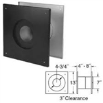 "DuraVent 4"" 4PVP-FS 4"" I.D. Black Ceiling Support Firestop Spacer (for 1"" clearance)"