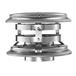 "DuraVent 4"" 4PVP-VC Stainless Steel 4"" I.D. Pellet Chimney Vertical Rain Cap"