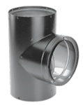 Simpson Dura-Vent Wood Chimney Double-Wall Black Tee w/Clean-Out Cap