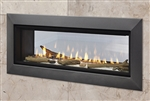 "MAJESTIC ECHELON II SEE-THROUGH WIDE VIEW MODERN GAS FIREPLACE with 36"" Viewing Glass Size, DIRECT VENT"