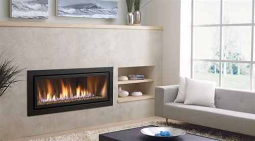 Regency hz54e large modern gas fireplace direct vent for Large modern fireplaces